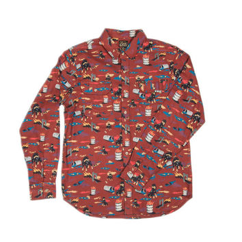 Obey - City Hunt Shirt in Burnt Henna
