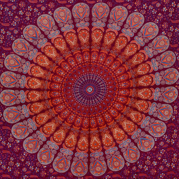Indian Mandala Tapestry Hippie Hippy Wall Hanging Throw Living Room Tapestry Bedspread Decorative Wall Hanging Picnic Beach Sheet Wall Art