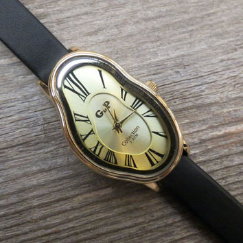 Salvador Dali Watch - Women's Watches - Leather Watch - Wrist Watch - Watches For Women - Dali Wrist Watch - Black Watch - Unique Watch