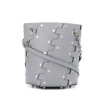 Proenza Schouler Studded Hex Bucket Bag - Grey Leather Bag