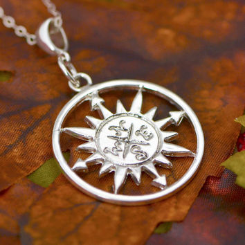 Labor Day Sale Compass Necklace - Sterling Silver Compass -  Compass Pendant - Nautical Jewelry - Compass Necklace  - Compass Jewelry