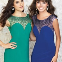 Madison James Fitted Jersey Dress 15-105