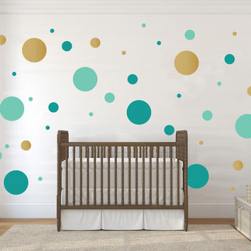 Multi-size Polka Dot Wall Pattern Decal, Three Color