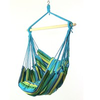 Sea Blue Mix Cushioned Hanging Hammock Chair