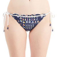 Sperry Nautical Sail to the Chief Swimsuit Bottom in Nautical