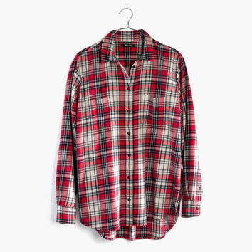 Flannel Oversized Ex-Boyfriend Shirt in Carl Plaid : | Madewell