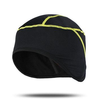 DCCK7N3 ARSUXEO Winter Warm Up Fleece Cycling Caps MTB Bike Bicycle Hats Sports Running Caps PT01