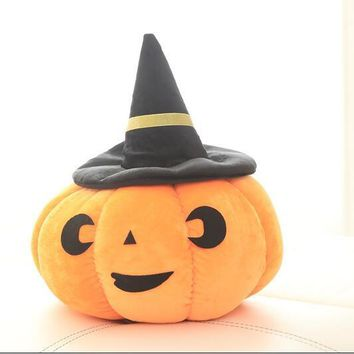 15cm 35cm Simulation Funny Halloween pumpkin hat with hood pillow plush toys for birthday gift 1pcs/lot