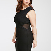 Mesh-Paneled Sheath Dress