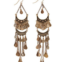 Burnished Chandelier Earrings