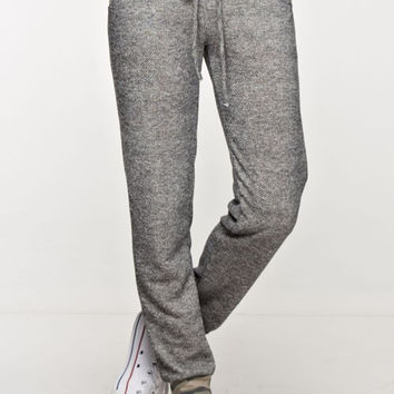 Solid Joggers with Camo Trim - Charcoal