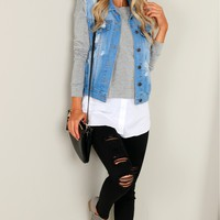 Denim Vest Light