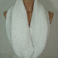 White Cowl Scarf  by Arzu's Style
