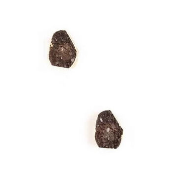 ROCK ON Druzy Stud Earrings in Smoky Crystal