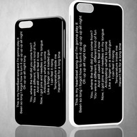 kelly clarkson heartbeat song lirik X0675 iPhone 4S 5S 5C 6 6Plus, iPod 4 5, LG G2 G3 Nexus 4 5, Sony Z2 Case