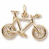 Mountain Bike Charm in Yellow Gold Plated