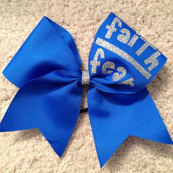 Faith over Fear Large Cheer Bow(more colors available)