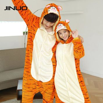 Christmas Winter Nightgown Flannel Cute Adult Ladies Animal Mens Tiger Pajamas for Women Costume Pajamas Onesuits Piece