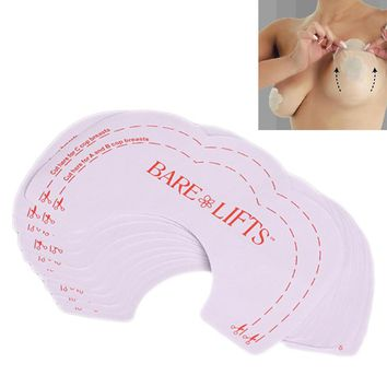10PCS Trendy Women Girls Fashion Sexy Instant Breast Lift Up Invisible Bra Tape Strapless Adhesive Backless Nude Hot Sale
