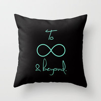 To Infinity and Beyond Tiffany Mint Throw Pillow by RexLambo | Society6
