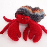 Crab Hermit toy waldorf by EvesLittleEarthlings on Etsy