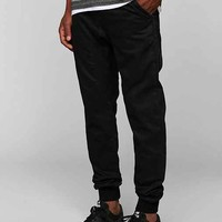 ZANEROBE Slingshot Denim Coated Black Jogger Pant- Black