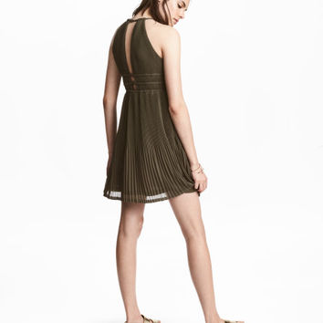 Pleated Halterneck Dress - from H&M