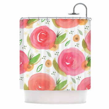 "Li Zamperini ""Florsle"" Pink Green Shower Curtain"