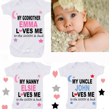 Godmother moon & back or any family member loves me or design your own