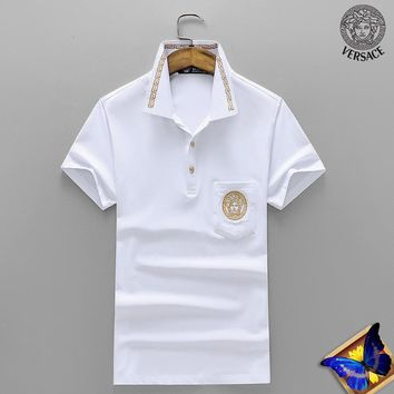 Versace Fashion Casual Shirt Top Tee-91