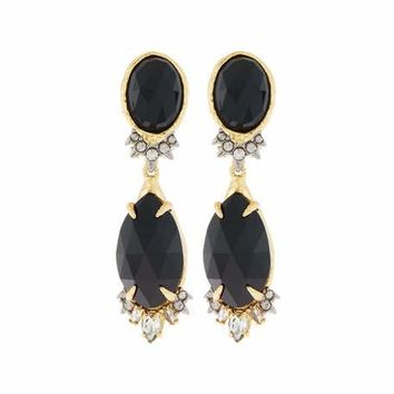 Alexis Bittar Elements Crystal Drop Earrings, Black