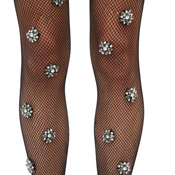 Mystical Being Crystal Fishnet Stockings