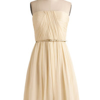 Strapless A-line Time of My Life Dress in Candlelight