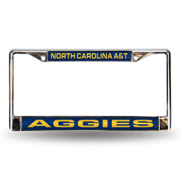 North Carolina A&T State Aggies NCAA Laser Chrome Frame