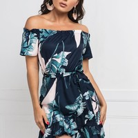Jacklyn Floral Dress - Navy