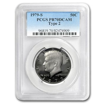 1979-S Kennedy Half Dollar Type 2 PR-70 PCGS (Clear S)