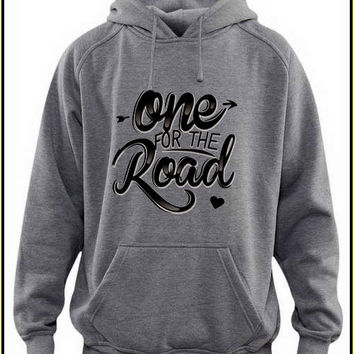 one for the road custom crewneck hoodie for unisex