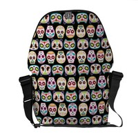*Sugar Skull Rock Collection Courier Bag