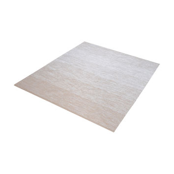 8905-035 Delight Handmade Cotton Rug In Beige And White - 6-Inch Square