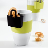 Mini Cup Carry All: Teacup / Coffee Cup with Lilly Bag for Cookies