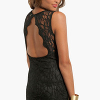 Sweetheart Lace Open Back Dress $34