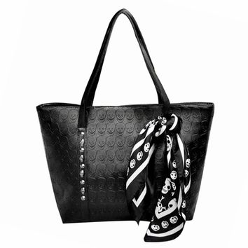 The Skull Tote Shopping Bag