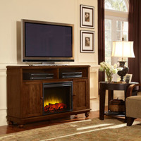Pleasant Hearth Brighton Media Electric Fireplace