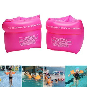 1Pair Adult Child PVC Safety Training Inflatable in the Outdoor Pool Swim Ring Buoyancy Arm Circle Floating Water Air Sleeves
