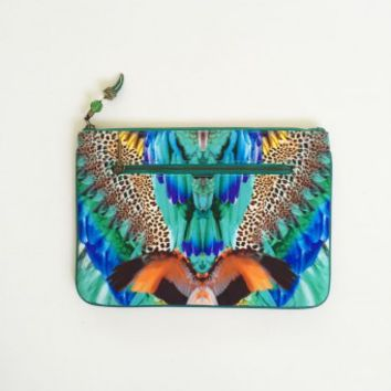 Camilla Jungle Flight Small Canvas Clutch | Buy More From The Camilla Wandering Hearts Collection Online