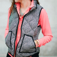 Exclusive Women 2016 New Vests Jacket Herringbone Quilted Puffer Vest Sleeveless Coat Warm Zipper Women Waistcoat Oversized