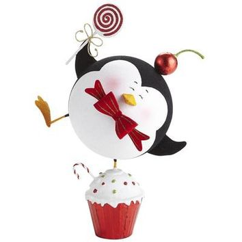 Glitter Penguin on Cupcake