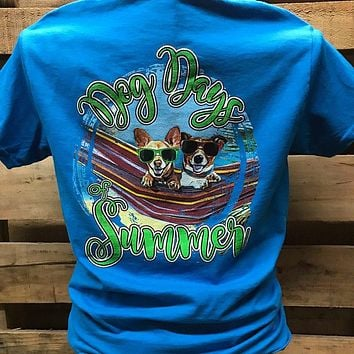 Southern Chics Dog Days of Summer Bright Girlie T Shirt
