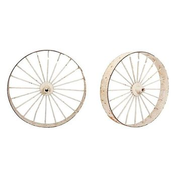 Pre-owned Vintage Wagon Wheels - A Pair