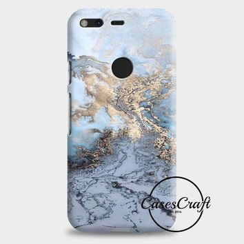 Blue & Gold Marble Google Pixel XL 2 Case | casescraft